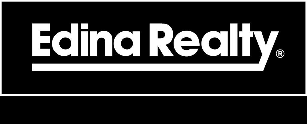 Edina Realty Logo in black background with white text