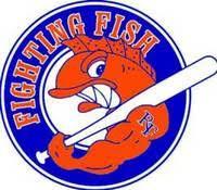 Fighting Fish Baseball logo River Falls Wi
