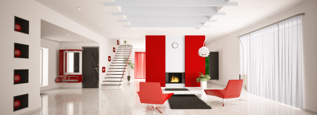 interior room white with pops of red - Market Reports
